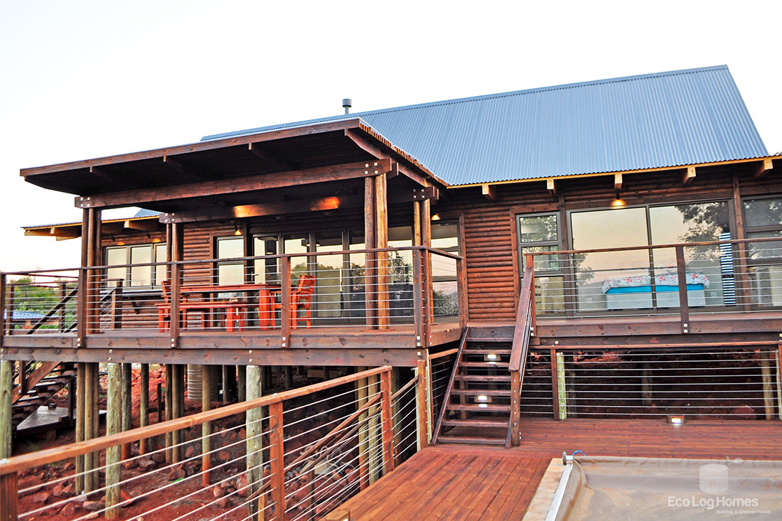 Off Grid Log Home For Nylstroom Mountain Estate Eco Log
