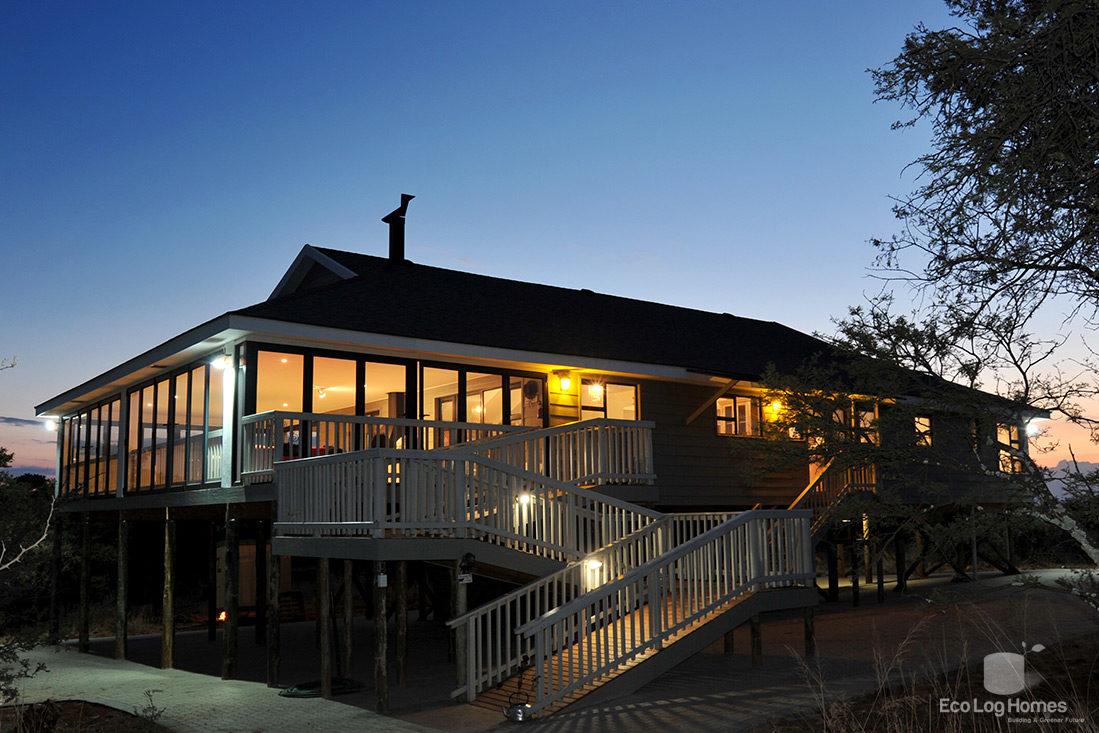Home eco log homes for Eco home builders